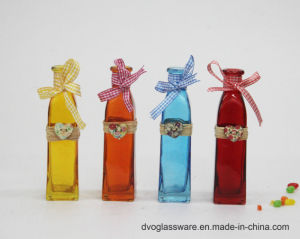 Decorative Colored Glass Bottle for Flower