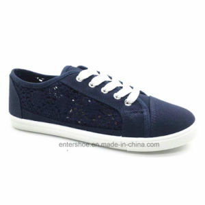Cheap Injection Canvas Casual Shoes for Women (ET-AL160244W) pictures & photos