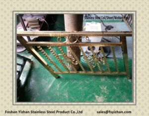 Wholesale Embossed Stainless Steel Decoration Pipe for Stair Railing pictures & photos
