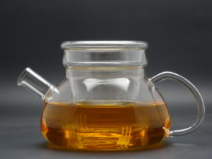 900ml Hand Made Borosilicate Single Wall Glass Teapot, pictures & photos