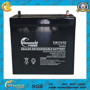 12V55ah AGM Technology Deep Cycle Series Solar Battery pictures & photos