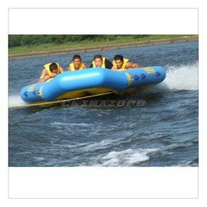 Quite Good Designed Blue Flying Rides Inflatable Water Flyfish
