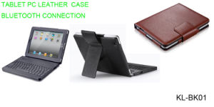 Bluetooth Keyboard Leather Case for iPad1- (KL-BK01) pictures & photos