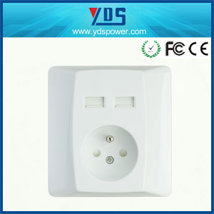 High Quality New Design Power Electrical Outlet USB Wall Socket pictures & photos