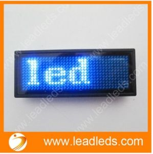 Hot Selling Durable Product Illuminated Plastic Name Badge with Blue Flashing Text