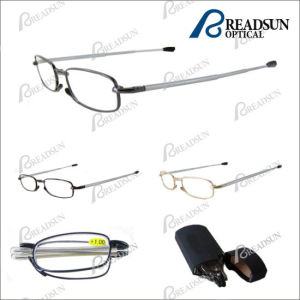 Stainless Steel Foldable Reading Glasses with Case (RM97032) pictures & photos