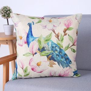 Digital Print Decorative Cushion/Pillow with Peacock Pattern (MX-69B) pictures & photos
