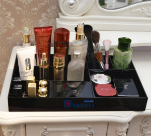 Black Acrylic Cosmetic Storage Display Tray Divided Organizer pictures & photos