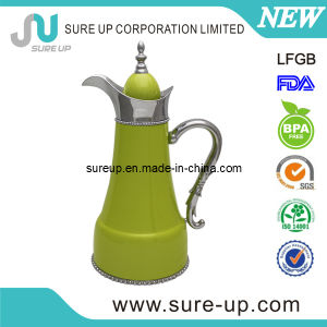Stainless Steel Painted Arabic Coffee Jug with Glass Inner pictures & photos