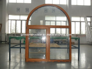 Customized Aluminium Composite Wood Window with Double Glazing pictures & photos