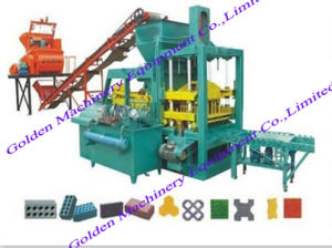 Automatic China Hydraulic Concrete Cement Brick Block Making Machine pictures & photos