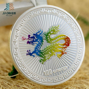 2017 Free Sample 999 Silver Paint Colorful Custom Souvenir Coins pictures & photos