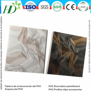Cheap Price Waterproof PVC Tiles for House Ceiling and Wall Decoration (RN-51) pictures & photos