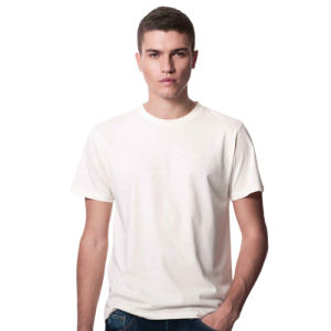 High Quality Custom Bamboo Cotton White Men′s T-Shirt (T003) pictures & photos