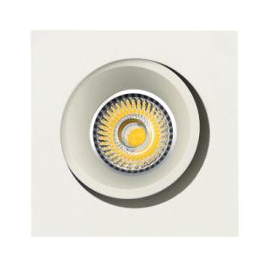 Lathe Aluminum GU10 MR16 Round Recessed Tilt Spotlight (LT2205B) pictures & photos