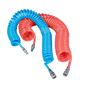 PU Compressed Air Coiled Hose pictures & photos
