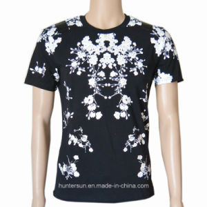 Man New Fashion Printing T Shirt with Flower Printed (HMT8002)