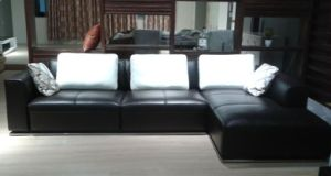 Low Back Living Room Corner Sectional Sofa with Chaise (N855) pictures & photos