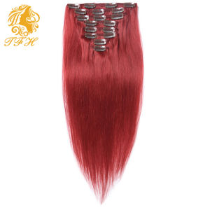 Clip in Human Hair Extensions Piano Color Clip in Hair Extensions Brazilian Human Hair pictures & photos