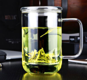 Customized Glass Tea Cup with Filter pictures & photos