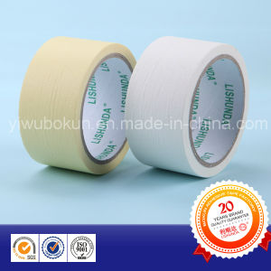 Hot Products White/Yellow Masking Paper Tape with Rubber Base and Easy-Tear pictures & photos