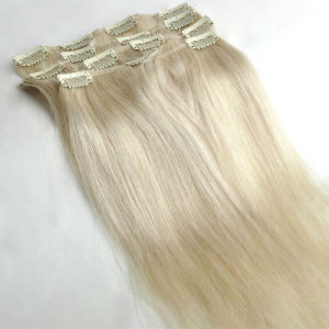 Indian Remy Human Hair Clip in Hair Extension pictures & photos