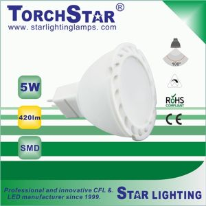 5W Aluminum Plastic SMD Gu5.3 LED Spot Light Lamp with Ce RoHS