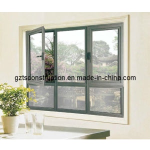 Aluminum Casement Window with Blinds pictures & photos