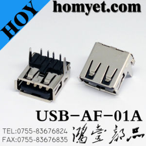USB 2.0 a Type 90 Degree Jack for Computer Products (USB-AF-01) pictures & photos