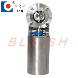Manual Stainless Steel Sanitary Butterfly Valve pictures & photos