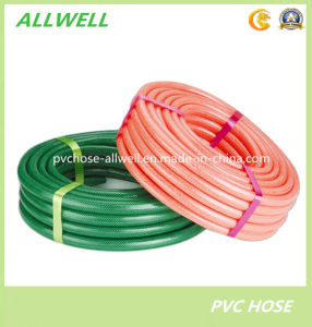 PVC Colorful Fiber Braided Reinforced Water Irrigation Garden Hose Pipe pictures & photos
