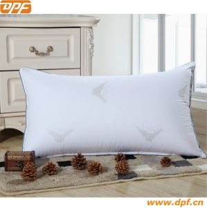 Stripe Cover Black Piping White Goose Down Pillow (DPF10314) pictures & photos