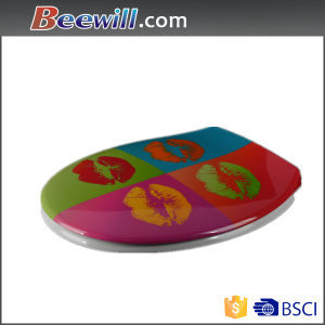 Urea Printed Style Polished Toilet Seat with Slow Down pictures & photos