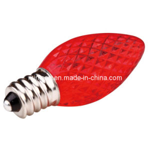 LED Bulb - RED (C7 FACETED)