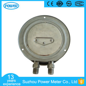 "6""150mm Stainless Steel Bottom Connection Lower Differential Pressure Gauge with Flange pictures & photos"