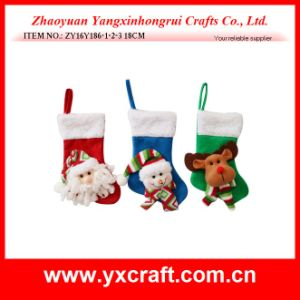 Christmas Decoration (ZY16Y186-1-2-3 18CM) Santa Claus Cutlery Socks pictures & photos