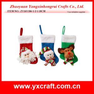 Christmas Decoration (ZY16Y186-1-2-3 18CM) Santa Claus Cutlery Socks pictures & photos