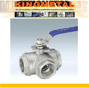 Stainless Steel Three Way Ball Valve pictures & photos