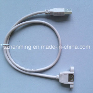 1m USB 2.0 a Male to a Female Panel Mount Cable (NM-USB-1336) pictures & photos