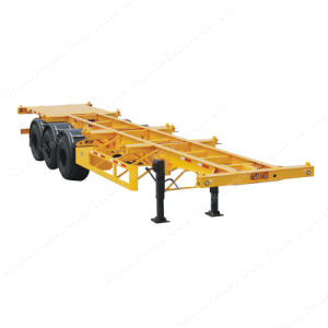 Sinotruk HOWO 40FT Skelete Container Semi Trailer with High Quality pictures & photos