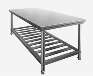 2 Layers Stainless Worktable (STW002) pictures & photos