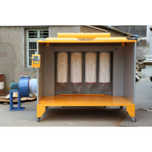 Car Wheel Powder Coating Booth with 4 Filters pictures & photos