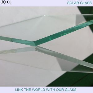 3.2mm Super White Patterned Glass for Solar Collector pictures & photos