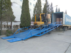 6t Mobile Forklift Loading and Unloading Yard Ramp Container Ramp pictures & photos