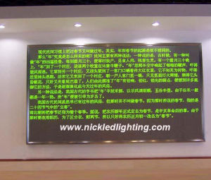 Single Color Programmable Indoor DOT Matrix LED Message Sign (P7.62) pictures & photos