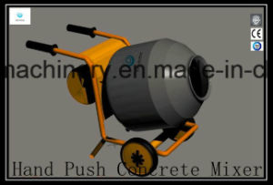 Hand Push Electric Power Mobile Concrete/Cement Machine Mixer Gycm-12 pictures & photos
