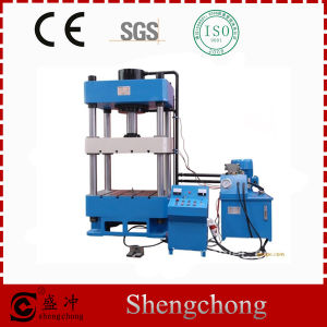 Hydraulic Press with Cushion and Knockout