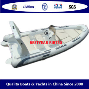 Bestyear Rigid Inflatable Boat of Rib730 pictures & photos