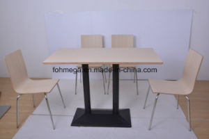 Fast Food Restaurant 4 Seater Restaurant Sets (FOH-NCP15-6) pictures & photos