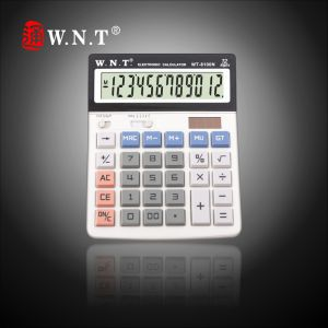 12 Digits Dual Solar Power Desktop Finance Calculator with Business, Sales or Office